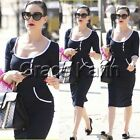 2014 WOMENS Celebrity Half Sleeve Rockabilly Pinup Pencil Party Crew Neck Dress