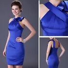 Formal Stain Bridal Party Short Gowns Bridesmaid Homecoming Prom Evening Dresses