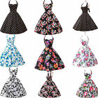 50s Pinup Rockabilly COMFY Cotton Floral Bridesmaid Housewife Party Swing Dress