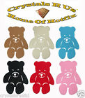 FABRIC FLEECE TEDDY BEAR IRON-ON HOTFIX KID PARTY TSHIRT TRANSFER APPLIQUE PATCH