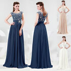 New Long Lace Evening Gown Bridesmaid Dresses Prom Dress Formal Party Ball Gowns