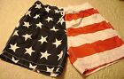 Men's USA Stars & Stripes Swimwear Board Surf Shorts Trunks American Patriotic