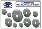 M6 X 30MM A2 ST/STEEL REPAIR WASHER PENNY WASHERS MUDGUARD WASHER FREE P&P