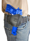 New Barsony Black Leather Gun Quick Slide Holster Smith&Wesson Full Size 9mm 40