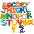 2014 New Fun Colours Wooden Magnetic Numbers Alphabet Letters Fridge Magnet Toy