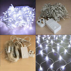 Cold White LED Fairy String +Net Web Light Christmas Bar Party Electric Power