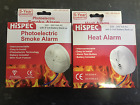 Mains Ionisation Smoke Alarm - Mains Heat Alarm - Battery Back-up 5 Year