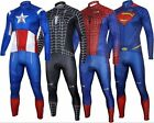 Batman Spiderman Captain Superman long Sleeve Bike Cycling Jersey+Pants Short