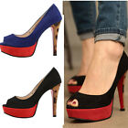 2sed0837 12cm Red platform toe open heel Made in korea