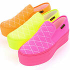 2ssd08102 5cm platform heel sneakers fluorescent color Made in korea