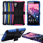 Rubber Armor Hybrid Case Stand Cover Skin Protector For LG D820 Google Nexus 5