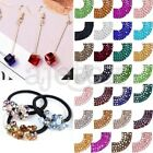 100pcs DIY Cube Square Center Drilled Crystal Loose Bead Jewelry Making 4mm 6mm