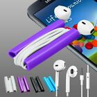 2in1 EarBud Earphone +Clip Cord Winder For Samsung Galaxy S2 S3 S4 mini Note 2 3