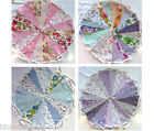 40ft Fabric Flag Bunting Wedding Vintage Shabby Handmade Floral Baby chic