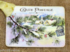 Hang Tags FRENCH VILLAGE WINTER POSTCARD CHRISTMAS TAGS or MAGNET #454 Gift Tags