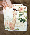 Hang Tags  VINTAGE STYLE LADY FASHION PEACH ROSE TAGS or MAGNET #657  Gift Tags
