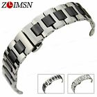 16mm 20mm High quality Solid Stainless Steel and Ceramics Watch Bands Bracelets