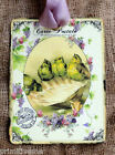 Hang Tags  FRENCH FLORAL BIRDS SEA SHELL TAGS or MAGNET #474  Gift Tags