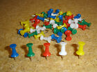 48 Push Pin Cork Notice Board Map Pins - Blue Green Red White Yellow Or Mixed
