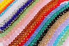 Crystal Glass Rondelle Beads 6mm 8mm 10mm 12mm for jewellery making and crafts