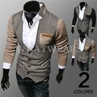 Mens Luxury Classic Casual Business Coat Cardigan Stand Collar Blouse 9718 GBW