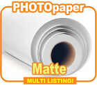 Inkjet Photo Paper Rolls, Matte Wide Format Photopaper 220gsm & 30m - All Sizes
