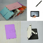 Colorful Folio PU Leather Case+Film+Stylus For RCA 7 7 Inch Android Tablet PC