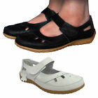 LADIES WOMENS STRAPPY VELCRO SCHOOL CUT OUR MARY JANE  FLAT SHOES PUMPS SIZE 3-8