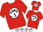 thing 1 2 3 4 5 6 7 8 9 10 t shirt  thing one halloween costume t-shirt cat hat