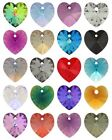 36 X Genuine Swarovski 6228 Crystal Heart Pendants 10.3x10mm * Many Colors