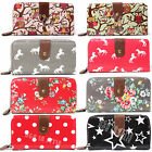 Ladies Designer Oilcloth Large Small Purse Wallet Women Girls Coin Purse Bag