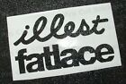 illest fatlace small to large glitter sparkle metalflake vinyl stickers decals