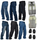 Denim Men's Motorcycle Motorbike Trousers Reinforced Protective Lining jeans