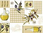 OLIVES WIPE CLEAN VINYL TABLECLOTH OILCLOTH - Click for list of sizes