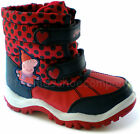 NEW Girls Marks and Spencer Peppa Pig Red Snow Boots Size 10 11 12 13