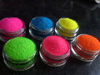 ��GLITTER POTS 5ml ULTRA FINE ~ 0.008 *  SET OF 6 * FOR NAIL ART, BODY ARTS