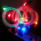 LED Light Micro USB Charger Data Sync Cable For Mobile Smart Phone Visible Color