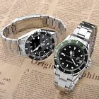 Mens Automatic Mechanical Analog Stainless Steel Date Sport Wrist Watch Gift Box