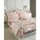 French Toile De Jouy Duvet Cover - Luxury 100% Cotton Vintage Cream Red Bed Set
