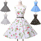 2014 CHEAPEST! Vintage 50s 60s Halter Polka Dot Swing VTG Jive Rockabilly Dress