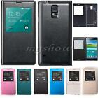 Slim Flip Window View PU Leather Battery Case Cover For Samsung Galaxy S5 i9600