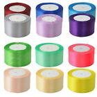 "22 Metres 25 Yards Satin Ribbon 2"" 50mm 5cm Sold By Rolls Multiple Colours"