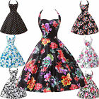 2014 Floral 50s 60s Vintage Rockabilly Swing Housewife Pinup Evening Party Dress