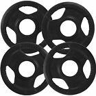 """Olympic 2"""" Weight Plates Discs Tri Grip with Plastic Cover Gym Workout Fitness"""