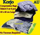 3/6pc KORJO Compression Storage Bags Camping Travel Home No Vacuum L Seal Spacer