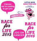 Race For Life 2014 Cancer Research Iron On T-shirt Vest Heat Transfer Print