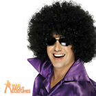 70s Mega Huge Afro Wig Black Large Curly Fancy Dress New