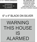 WARNING THIS HOUSE IS ALARMED ENGRAVED SIGN, HOME,  ASSTD OPTIONS