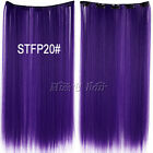 """20""""(50cm)50g Long Straight Synthetic Clip in hair extensions hairpiece 12colors"""