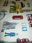Table Runner London Icons Bus Taxi Guard Multi Colour  Hand Crafted #015
